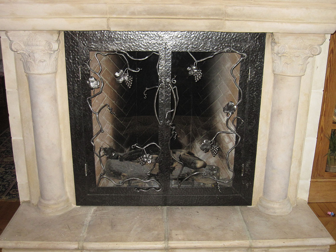 Fireplace Screens Doors By Advanced Welding Architectural Blacksmith