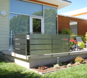Stainless, Privacy, Panel, Deck, Side Mount,