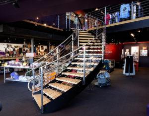 Stainless Steel, Circular Stair, Kaleidoscope,