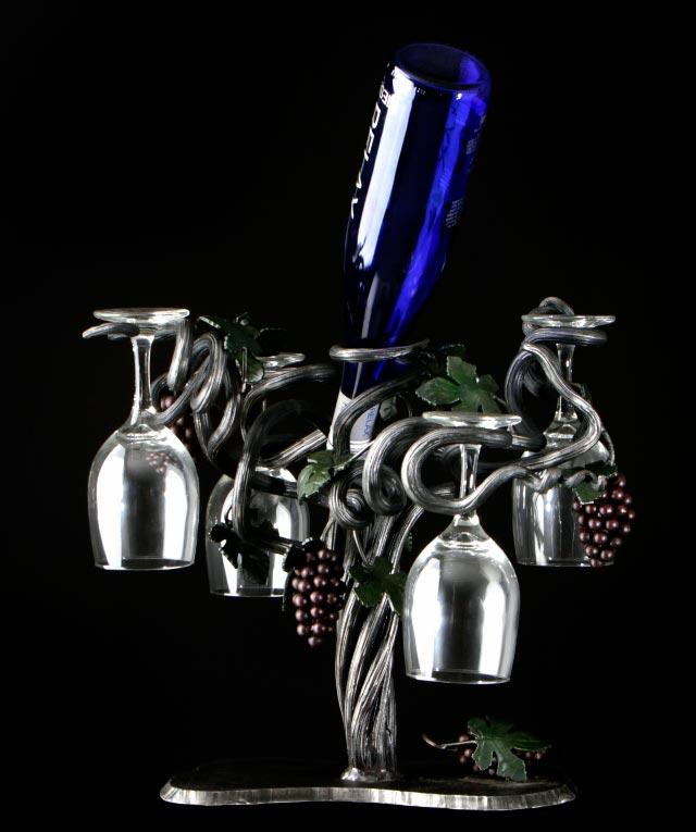 GRAPE VINE WINE GLASS HOLDER