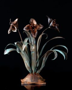 COPPER FLOWER SCULPTURE