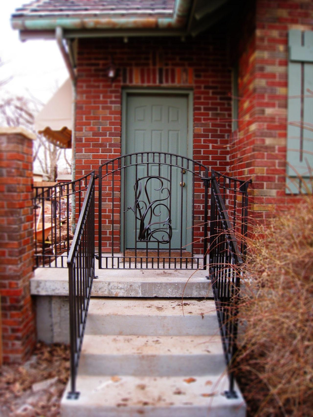 walk gate arch ornamental iron steel blacksmith