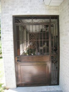 DOOR AND GRILL WITH SCROLLS