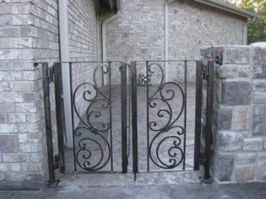 DOUBLE SCROLL PANEL WALK GATE