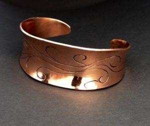 Copper Cuff with Scrolls