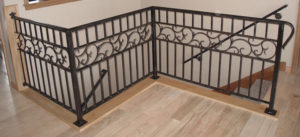 INTERIOR RAILING WITH SCROLL RIBBON